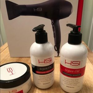 HSI Professional Blow Dryer Flat Iron HairCare Set
